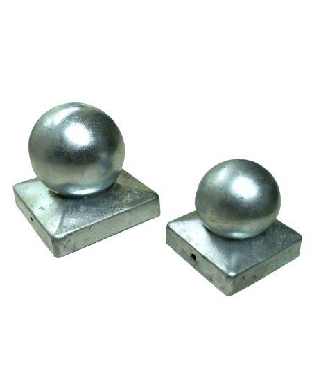 Galvanised Ball Finial Post Cap