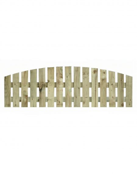 Estates Tanalised Arched Convex Paling Panel 25mm Single 6' x 2'