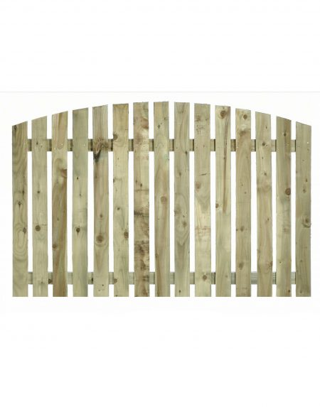 Estates Tanalised Arched Convex Paling Panel 25mm Single 6' x 4'