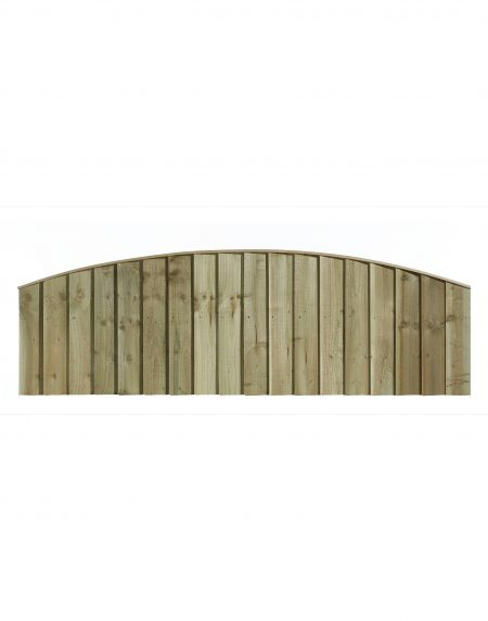 Estate Feathered Edge Arched Concave Fencing Panel 6' x 2'