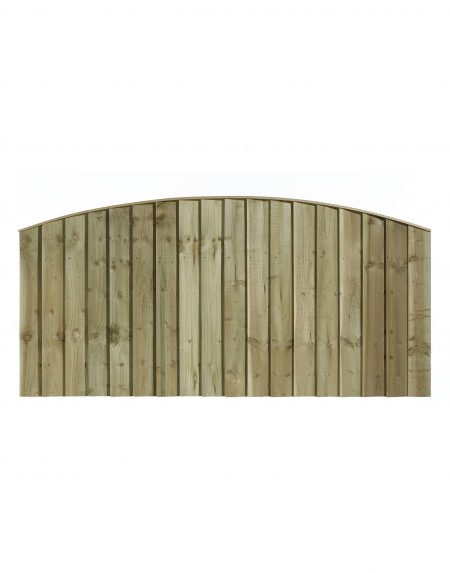 Estate Feathered Edge Arched Concave Fencing Panel 6' x 3'