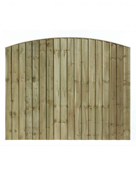 Estate Feathered Edge Arched Concave Fencing Panel 6' x 5'