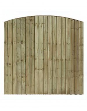 Arched Top Feathered Edge Fencing Panel