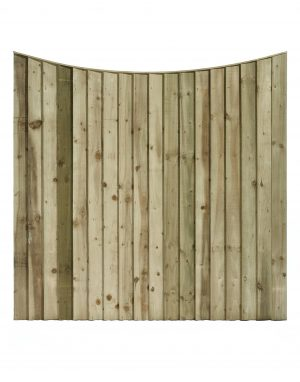 Bow Top Feathered Edge Fencing Panel
