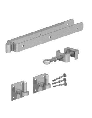 Gatemate Field Gate Adjustable Double Strap Hinge Set on Plates