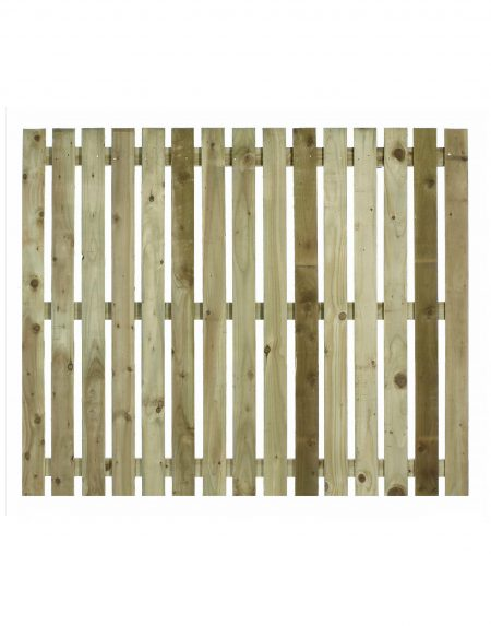 Estates Tanalised Square Paling Panel 25mm Single 6' x 5'