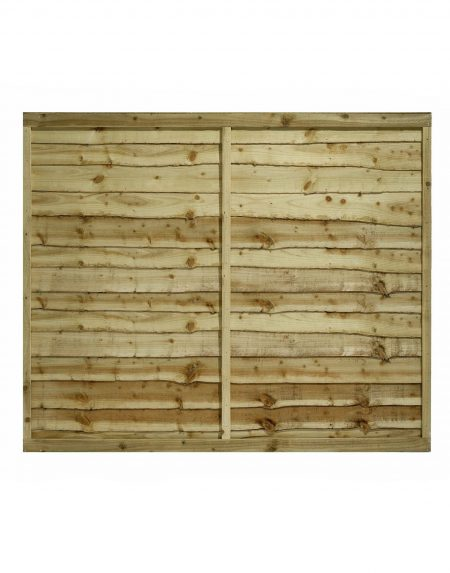 Estates Tanalised Overlap Fencing Panel 6' x 5'