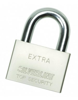 Silverline Steel Padlock 50mm