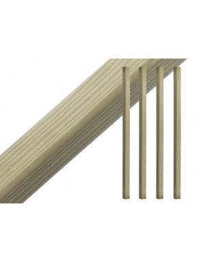 Tanalised and Planed Plain/Blank Decking Spindles