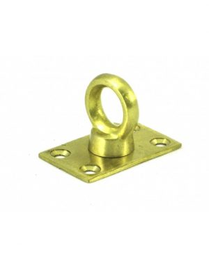 Gatemate Brass Rope Eye Plate
