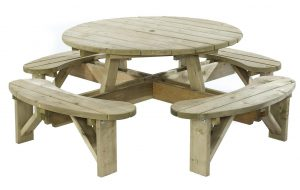KDM Standard Round Table with Bench Seats (ERBS)