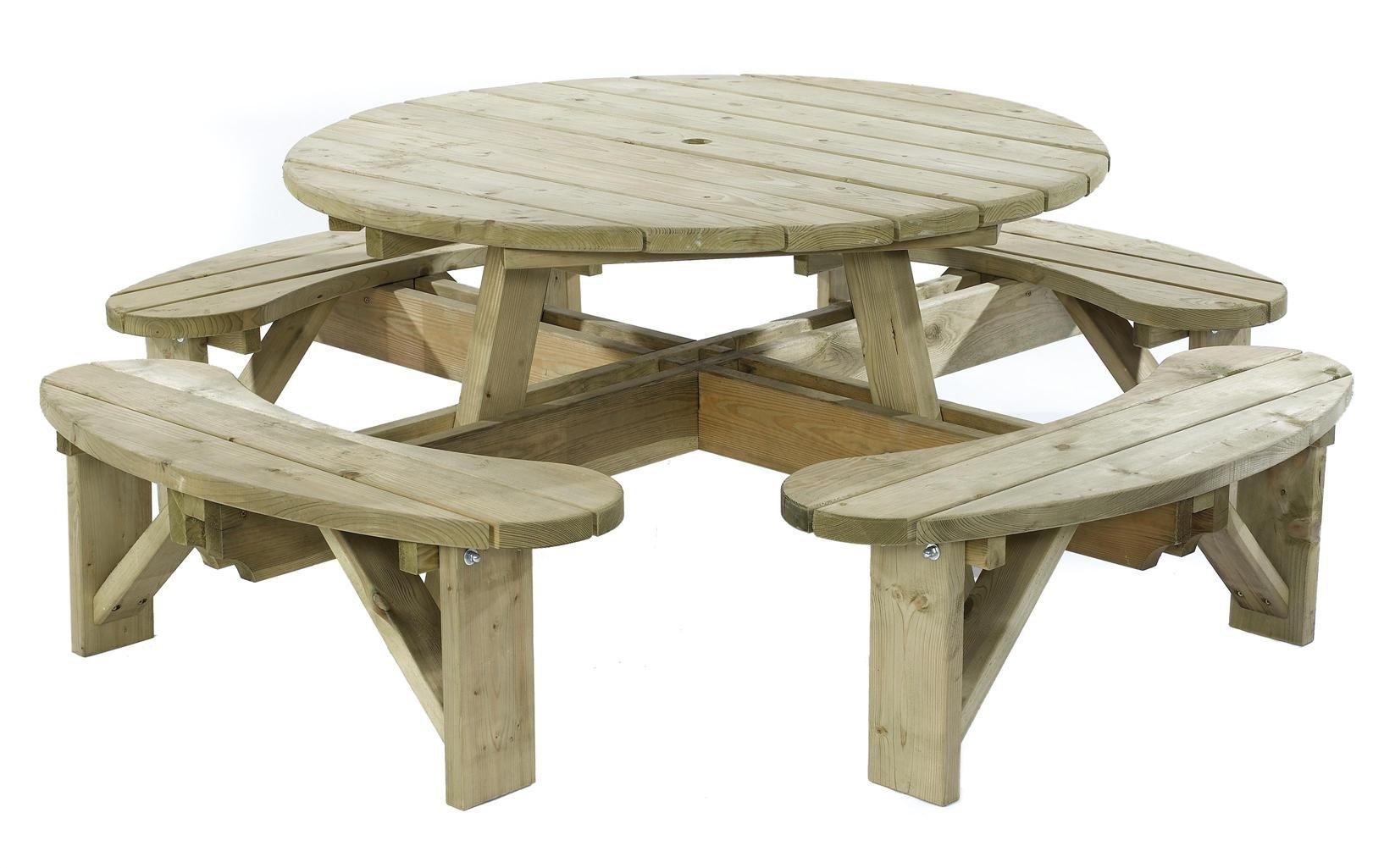 Standard Round Table.Kdm Standard Round Table With Bench Seats Erbs
