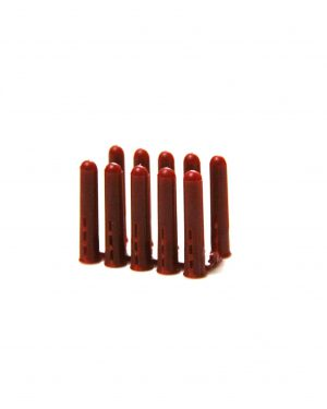 Plastic Brown 7mm Wall Plugs