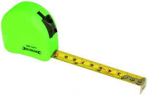 Silverline Hi-Viz Tape Measure 3m 5m 8m