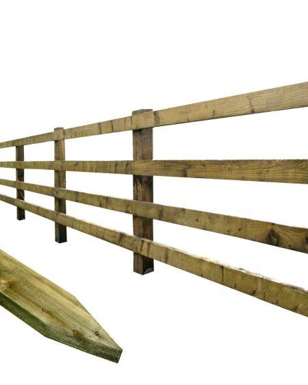 Pointed Posts For Agricultural Post & Rail Fencing