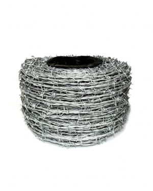 Galvanised Contractors Barb Wire Roll 200m