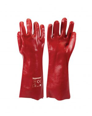 Silverline PVC Red Gauntlets