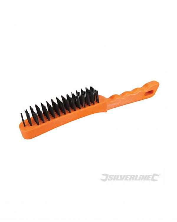 Silverline 5 Row Wire Brush