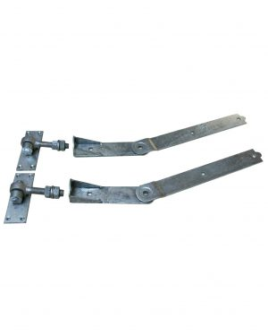 Gatemate Curved Rail Adjustable Band & Hooks Hinges