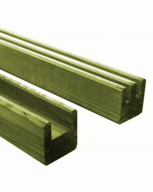 KDM Spare Side Frames for European Fencing Panels Single Double Grooved