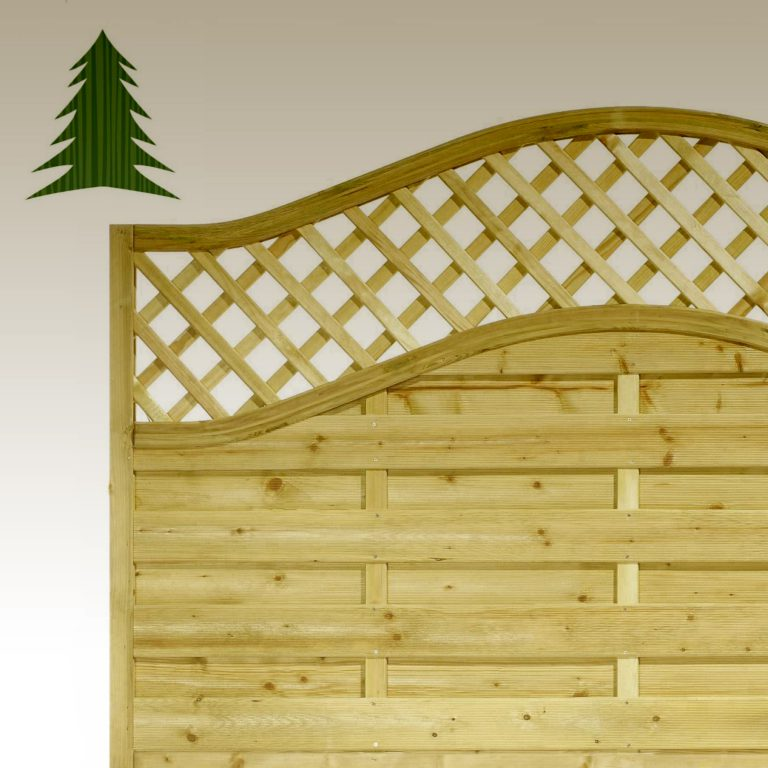 KDM Omega with Trellis Fencing Panel